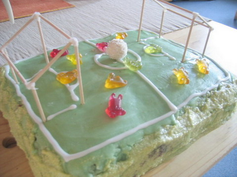Schöne Torte für den ersten Geburtstag von Felipe