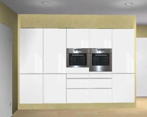 Küchenplanung Schlauchküche Türen 1179050646