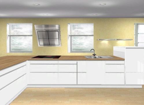 Küchenplanung Schlauchküche Türen 1015460342