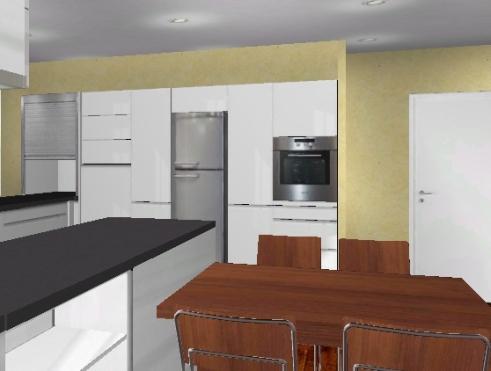 freistehender k hlschrank in k chenzeile integrieren b rostuhl. Black Bedroom Furniture Sets. Home Design Ideas