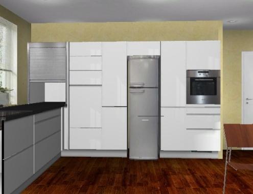 Freistehender Kühlschrank In Küche Integrieren Schön Fotografie Von