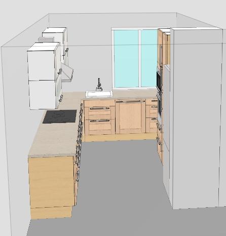 Küchenplanung für eine kleine geschlossene Küche ... | {Küchenplanung kleine küche 14}