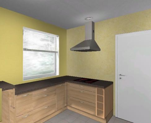 k chenplanung f r eine kleine geschlossene k che. Black Bedroom Furniture Sets. Home Design Ideas