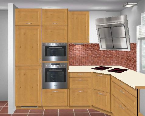 k chen mit kochfeld in der ecke hausidee. Black Bedroom Furniture Sets. Home Design Ideas