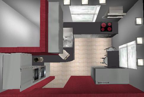 Küchenplanung 2 Fenster Verwinkelt 985405188
