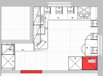 Küchenplanung - 2 Fenster und sehr verwinkelt   Küchenausstattung ...   {Kochschule grundriss 48}