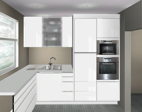 kuche hohe oberschranke. Black Bedroom Furniture Sets. Home Design Ideas