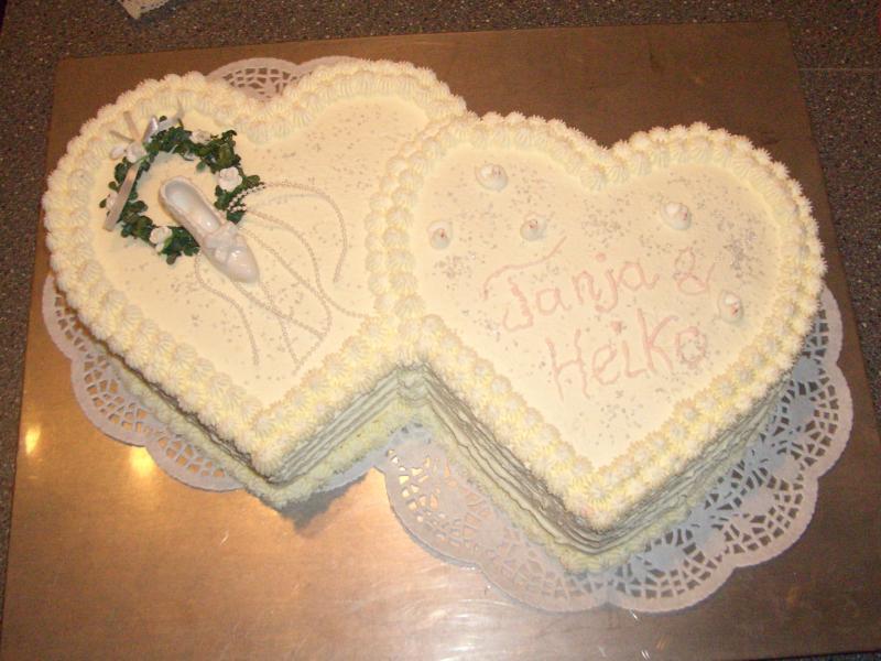 Herz Hochzeitstorte Hochzeitstorte Doppeltes Herz