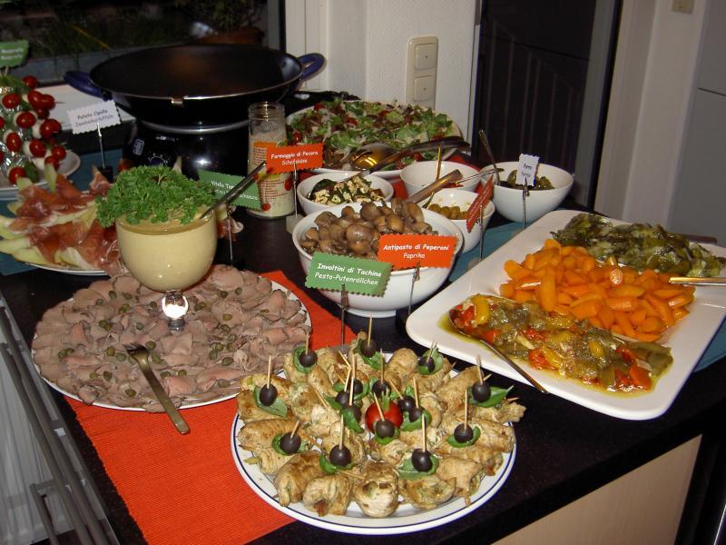 italienisches buffet f r 45 personen weihnachtsmen 2007 fotoalbum kochen rezepte bei. Black Bedroom Furniture Sets. Home Design Ideas