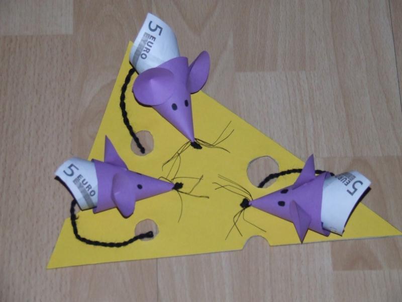 Geldgeschenk Mäuse Selbst Gebastelt Pictures