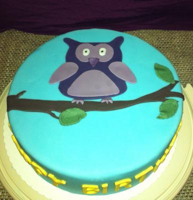 Kuchen Mit Eule Fur Den Geburtstag Meiner Mam Motivtorten Fotos