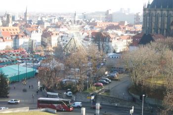 Blick vom Petersberg, auf Domplatz