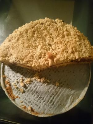 Heidelbeeren Pudding Kuchen.