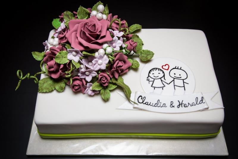Meine 2 Hochzeitstorte Motivtorten Fotos Forum Chefkoch De