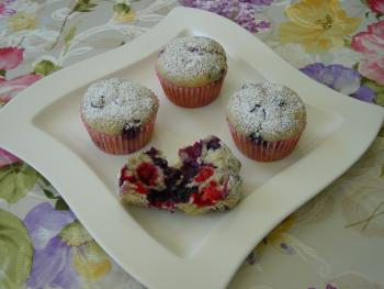 Himbeer - Blueberry - Muffins
