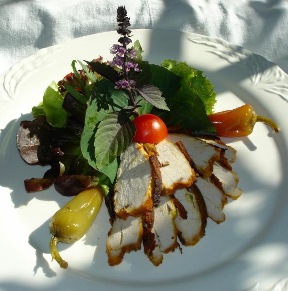 moziwis salatbouquet mit pikanter poulardenbrust in gew rzkr uterpaste gem se und salat forum. Black Bedroom Furniture Sets. Home Design Ideas