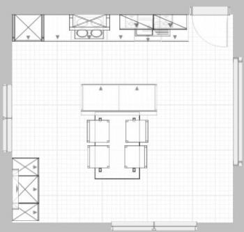bmitk - 23.07.2006 - Update 13.08.2006- Küche offen (4,6m x 4,9 m ... | {Küchenplanung mit insel grundriss 26}