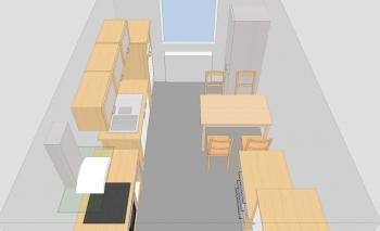 frago 4 6m x 2 8m geschlossene k che. Black Bedroom Furniture Sets. Home Design Ideas