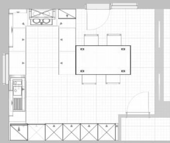funny22 4 50m x 4 99m k che mit essbereich schiebet r zu wohnzimmer fotoalbum. Black Bedroom Furniture Sets. Home Design Ideas