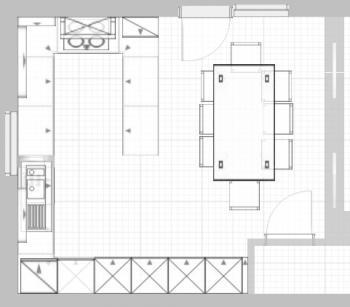 Funny22 4 50m x 4 99m k che mit essbereich for Wohnzimmer quadratisch grundriss
