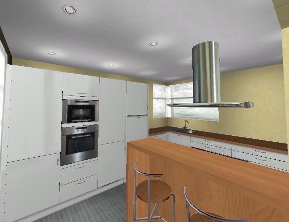 olof 3 07x3 89m geschlossene k che benkoski 3 60x7 1m koch. Black Bedroom Furniture Sets. Home Design Ideas