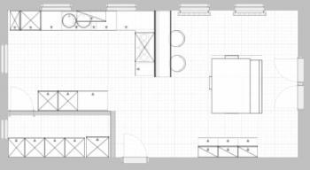 ExoticCocktail Küchenplanung 22.02.2006 (5m x 4,5m - Offene Küche ... | {Küchenplanung mit insel grundriss 48}
