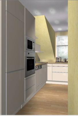 firstlady mit minik che 5 qm und dachschr ge. Black Bedroom Furniture Sets. Home Design Ideas