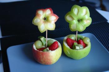 kreatives Obst Gemüse Kinder 1166242497