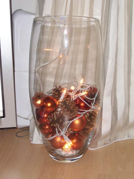 Lichterkette In Vase Leonardo Weihnachten Windlicht Vase Mit