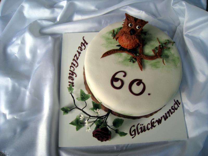 Torten dekorieren zum 60 geburtstag