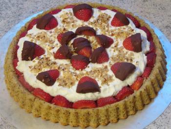 Torta di Fragole e Ricotta........meine Interpratation eines Erdbeerkuchens auf italienisch