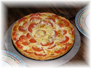 Tomaten-Mozzarella-Basilikum-Quiche