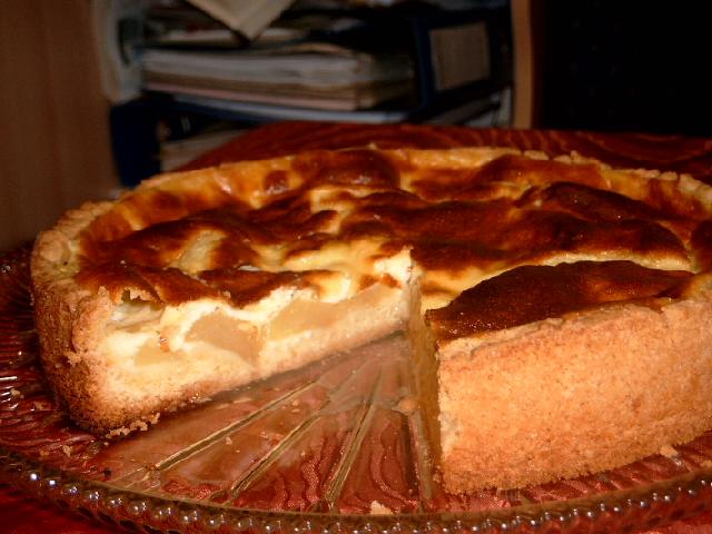Apfelkuchen pudding guss