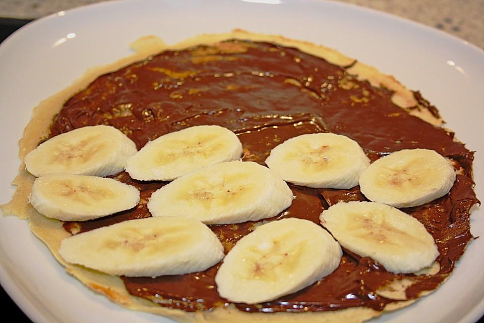 bananen nutella pfannkuchen rezept mit bild von lenchen. Black Bedroom Furniture Sets. Home Design Ideas