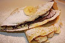 Bananen-Nutella-Pfannkuchen