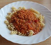 Spagettisauce mit roten Linsen