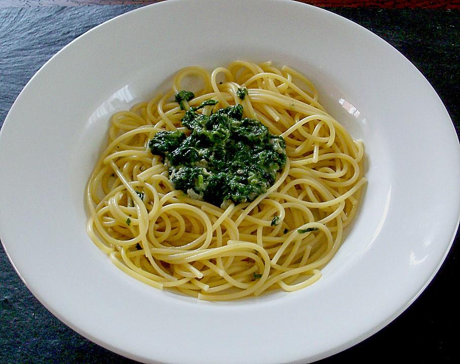 spaghetti mit spinat gorgonzolaso e von matti. Black Bedroom Furniture Sets. Home Design Ideas