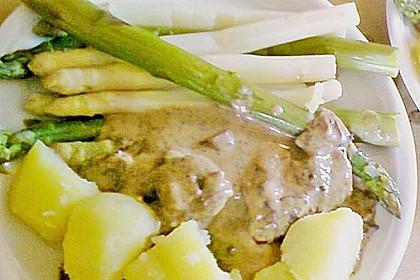 Spargel mit Schweinefilet und Pilzsoße 9