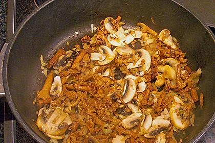Spargel mit Schweinefilet und Pilzsauce 9