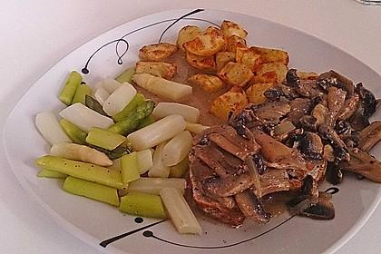 Spargel mit Schweinefilet und Pilzsoße 4