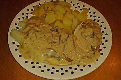Spargel mit Schweinefilet und Pilzsauce 16