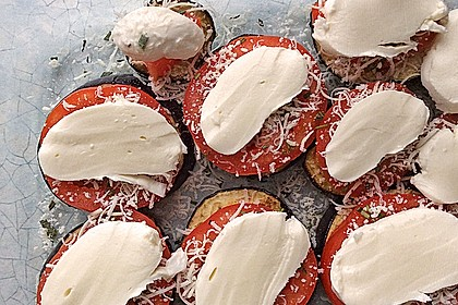 Gebackene Auberginen mit Mozzarella 2