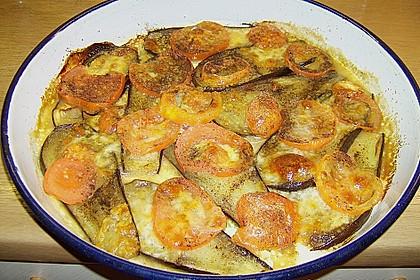 Gebackene Auberginen mit Mozzarella 1