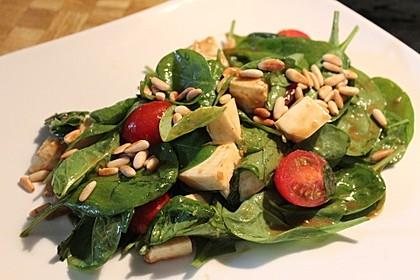 Spinatsalat mit Mozzarella 2