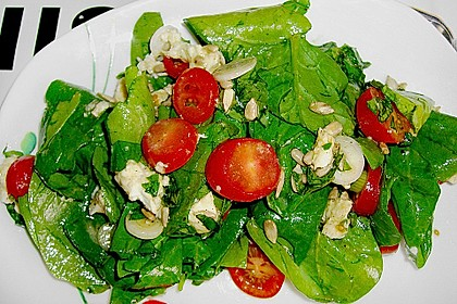 Spinatsalat mit Mozzarella 1