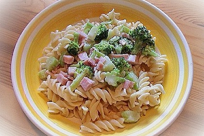 Makkaroni in Broccoli-Schinken-Soße 3