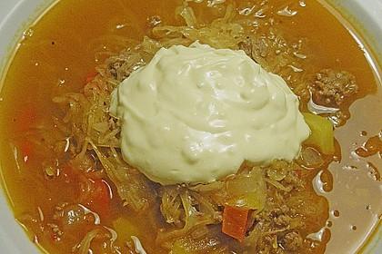 Hackfleisch-Sauerkraut Eintopf mit Knoblauch 1