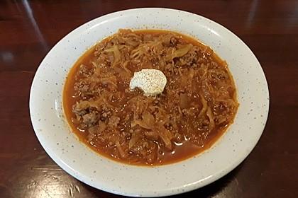Hackfleisch-Sauerkraut Eintopf mit Knoblauch 4