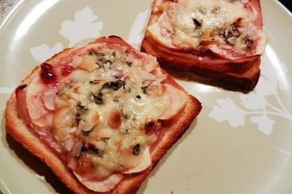 Gorgonzola Birnen-Toast 1