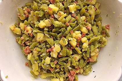 Omas Bohnensalat 4